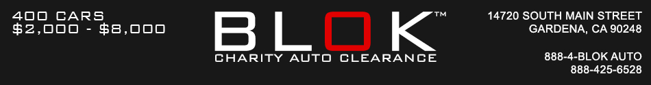 BLOK Charity Auto Clearance